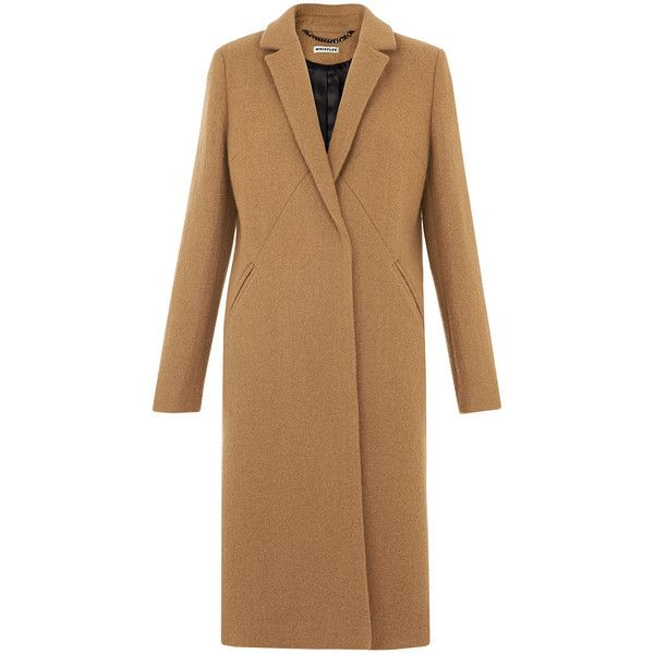 Whistles Classic Camel Overcoat (8 190 ZAR) ❤ liked on Polyvore featuring outerwear, coats, camel, brown overcoat, brown coat, camel coat, whistles coat and camel overcoat