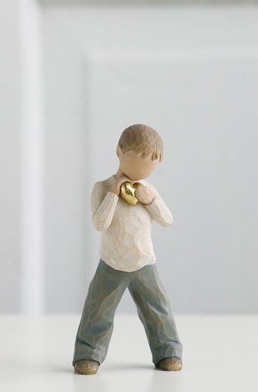 Heart of Gold - Willow Tree Figurine - The Shabby Shed  Sentiment: You will always have my heart