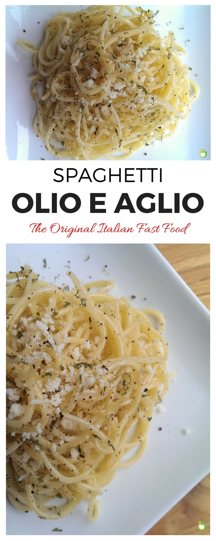Spaghetti Olio e Aglio--literally, Spaghetti with Olive Oil and Garlic. You probably have all three ingredients you need to make this Italian dish right now, and it only takes 10 minutes. Plus, it's the most versatile recipe you'll ever use. | FoodRetro.com