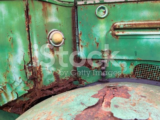 Rusty green truck detail royalty-free stock photo