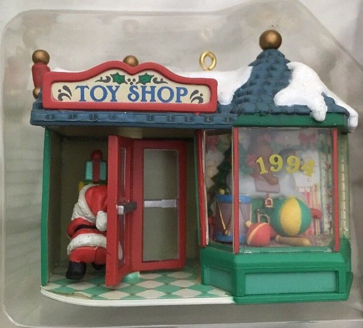 Carlton Cards HOLIDAY TOWN SANTA'S TOY SHOP 1st IN SERIES Lighted Ornament