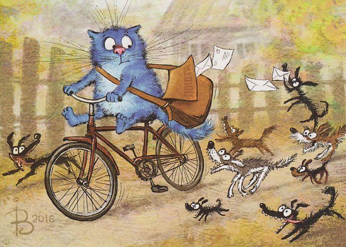 Смешные рисунки велосипедов, праздники
