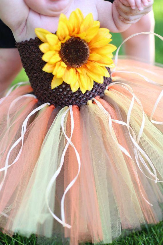 Newborn Size 12 Scarecrow Tutu Dress by krystalhylton on Etsy