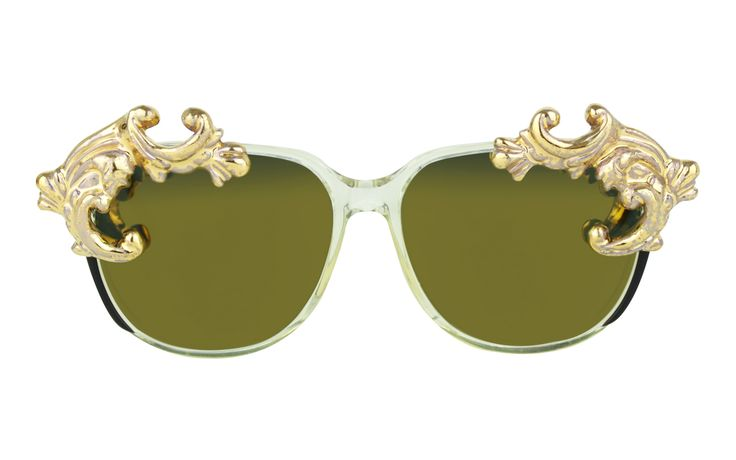 One of the main trends of the season: RUNWAY GOLD | MOO EYEWEAR G/S DESIRE 1 GOLD sunglasses