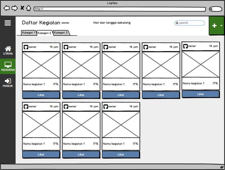 Cerita ini (LogApp – Bagian 1.2 Sketsa Aplikasi Halaman Kegiatan) merupakan kelanjutan dari bagian sebelumnya yaitu: LogApp – Bagian 1.1 Sketsa Aplikasi Saya menambahkan halaman ini untuk menampung semua