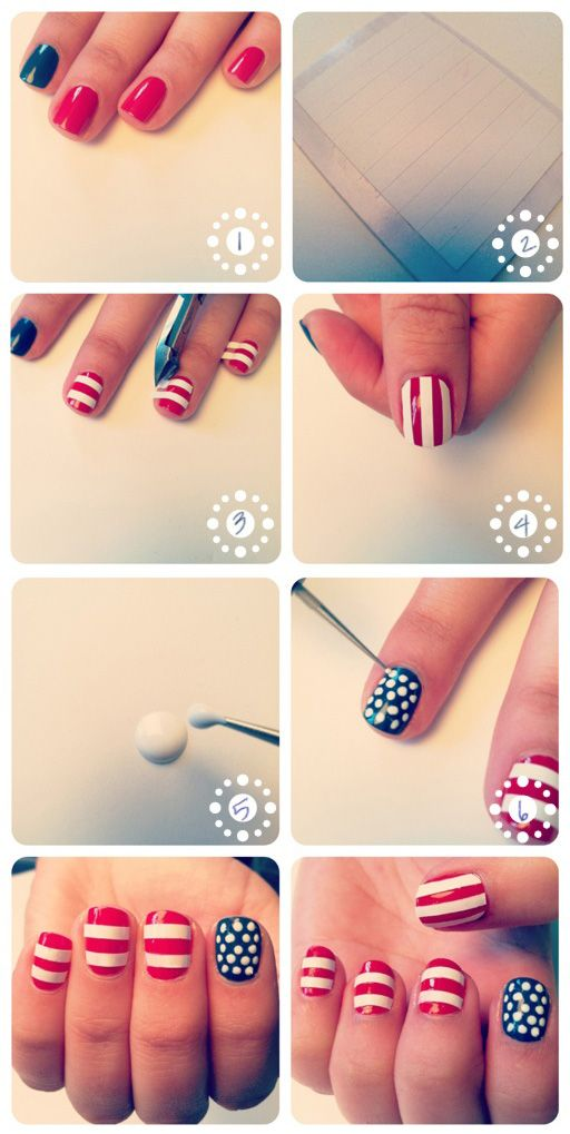 Fourth of July nails??  Why not!!!