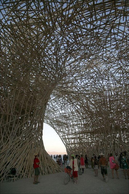 It's ironic that Burning Man falls on Labor Day weekend, because the amount of sweat and elbow grease that goes into creating the temporary art displays is staggering. The result is the world's largest interactive display of art, set in a lunar landscape that gives an otherworldly flavor to the whole experience.