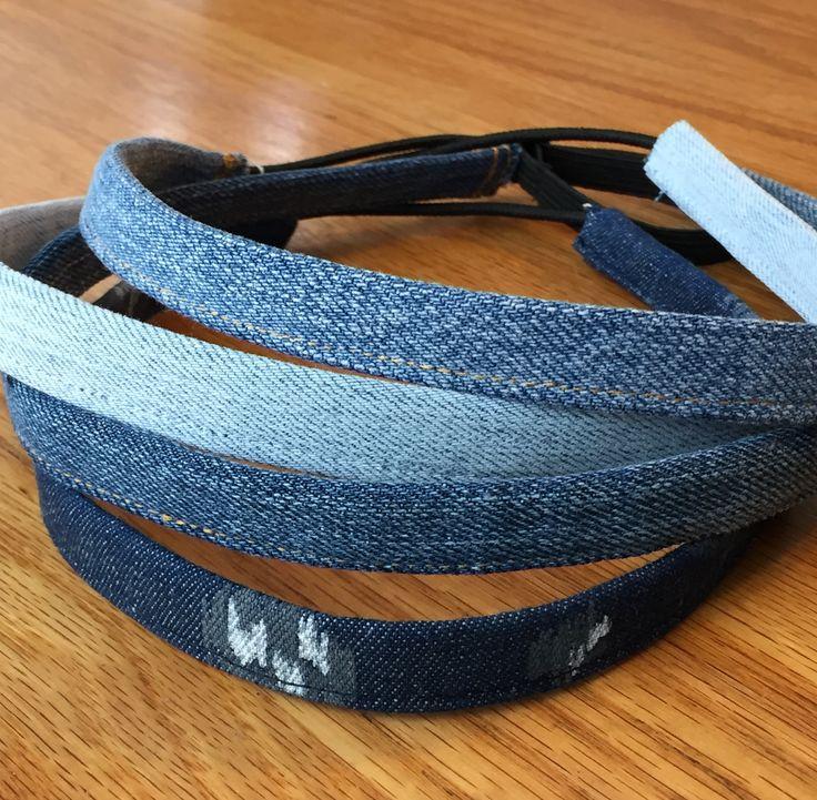 Denim Headbands as comfy as your favorite pair of jeans.  https://www.etsy.com/listing/532804869/denim-headbands-adjustable-skinny?ref=shop_home_active_1