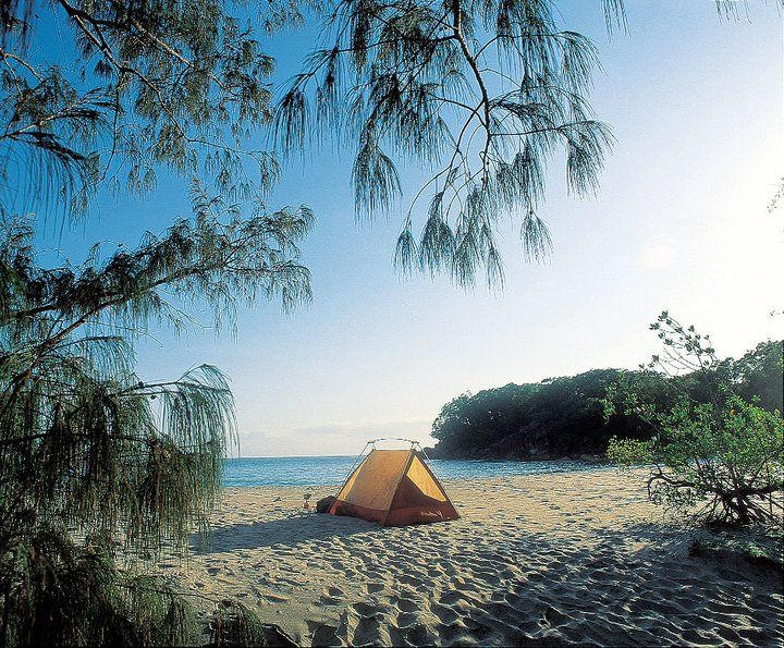 Beach camping, Australia