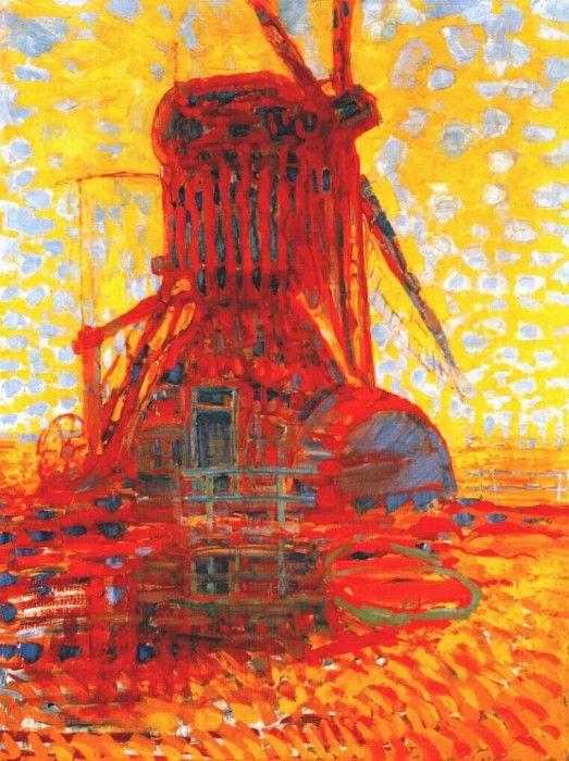 Ветряная мельница на ярком солнце, 1908. Пит Мондриан