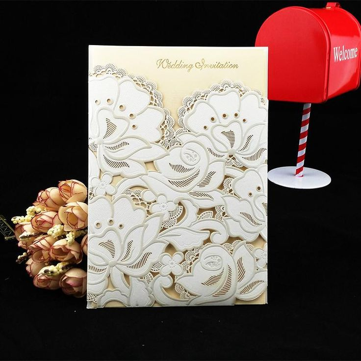 50pcs/Lot 2015 Hot Wedding Favor Laser Cut White Lace Flower Wedding Invitation Card Free Shipping-in Event & Party Supplies from Home & Garden on Aliexpress.com | Alibaba Group