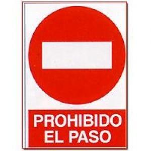 Señal Prohibido el Paso - http://www.janfer.com/es/prohibicion/602-senal-prohibido-paso.html