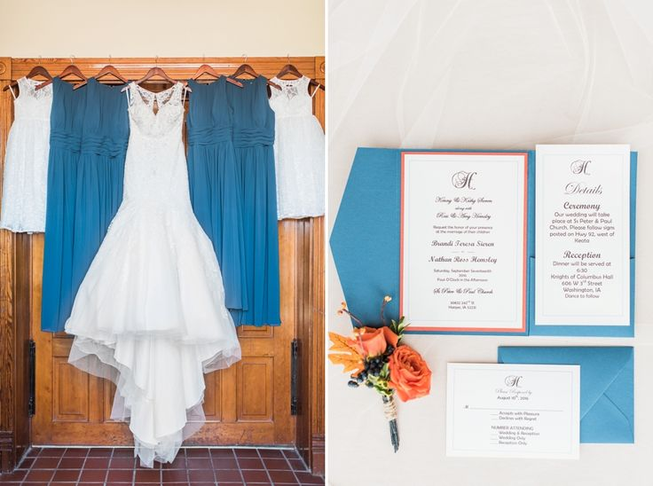 A Rural Keota Harvest Wedding. Pocket Wedding InvitationsWedding ...