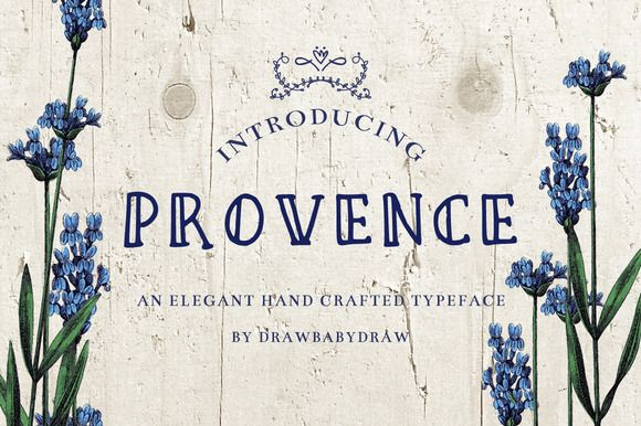 Vintage Font- provence by DrawBabyDraw Designs on Creative Market