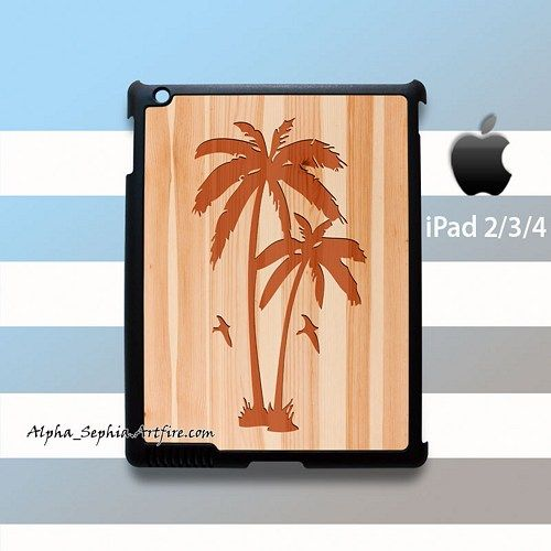 Palm Trees Style Wood iPad 2 3 4 Case Cover