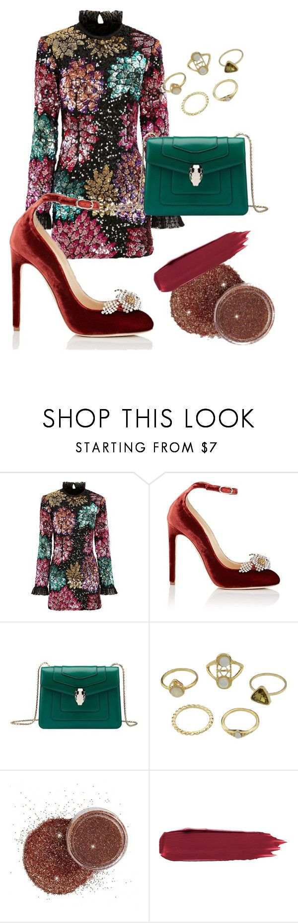 """Без названия #11"" by olya-chernenko ❤ liked on Polyvore featuring Millie Mackintosh, Chloe Gosselin and Bulgari"