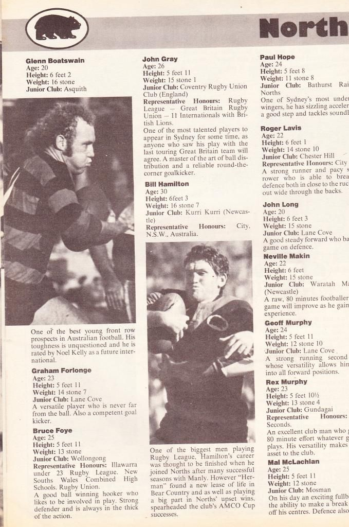 The Mighty Bears View Topic Glenn Boatswain Rugby League