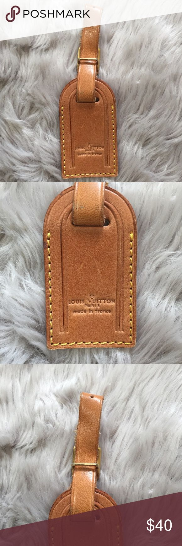Authentic Louis Vuitton Small Luggage Tag Perfect to use for your winter getaways this year! Attach it to your suitcase or purse and add a bit of luxury to your travels.  100% guaranteed authentic. Excellent used condition. Smaller size. Louis Vuitton Accessories Key & Card Holders