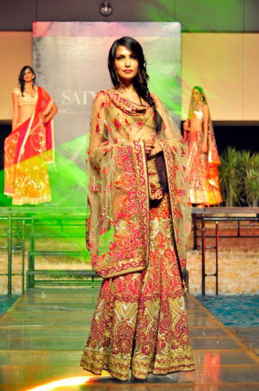 Satya Paul Indian bridal designer wear. More photos on the IndianWeddingSite.com Blog.