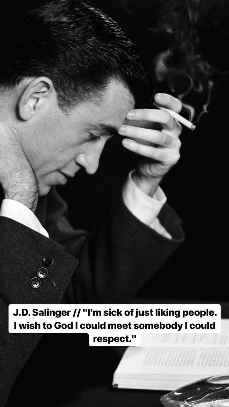 J.D. Salinger Literary quotes, People quotes, Philosophy