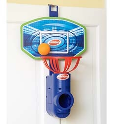 Catch and Shoot Game with Backboard, Net, Ball, Door Hanger and Shoote