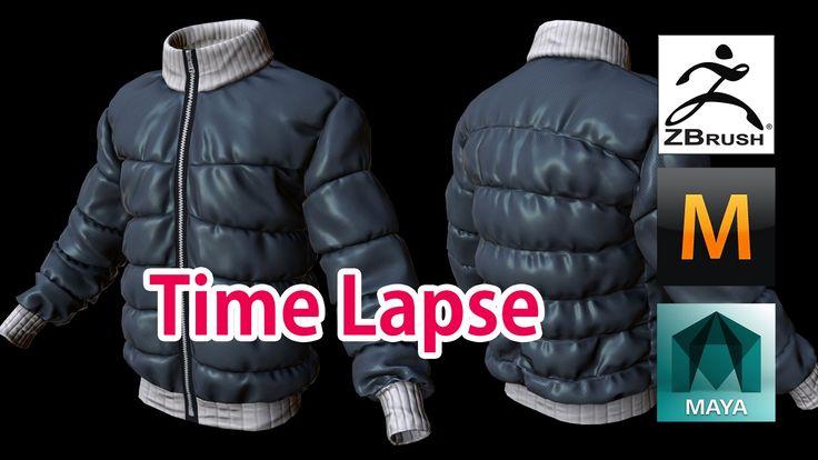 3D modeling Padding jumper (Zbrush, Marvelous Designer) Time Lapse