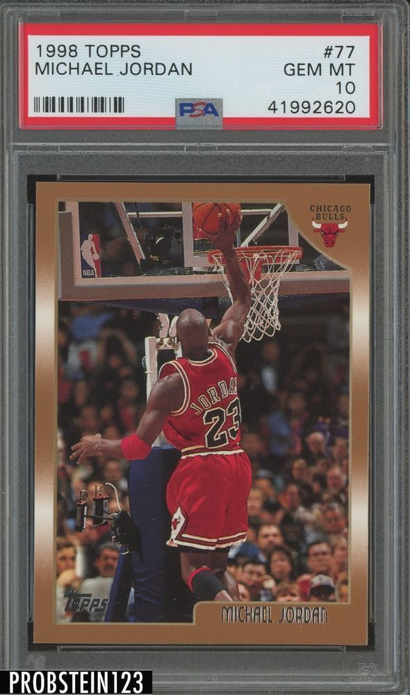 best service 5635e 2b265 1998 Topps  77 Michael Jordan PSA 10  PSA10  sportscards  collecting