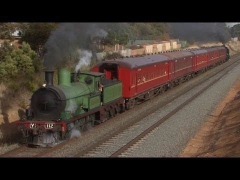 Steam Train on the Warrenheip Bank - Ballarat Shuttles 2013: Australian Trains - YouTube