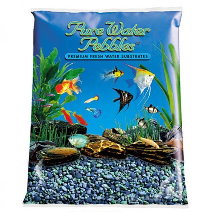 5lb Pure Water Pebbles Aquarium Gravel Blue Lagoon is a natural freshwater aquarium gravel substrate. Fish-safe 100% acrylic coating. Non-toxic and colorfast, will not alter aquarium chemistry. Ideal for aquariums, ponds, terrariums, crafts, lan