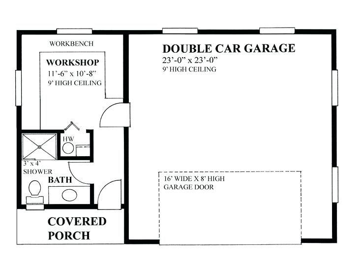 2 Car Garage Workshop Layout 2 Car Garage Workshop Floor Plan Home Depot Remodeling Kitchen Ideas Garage Plans Garage Plan Car Garage