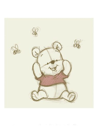 draft drawing - cute baby pooh
