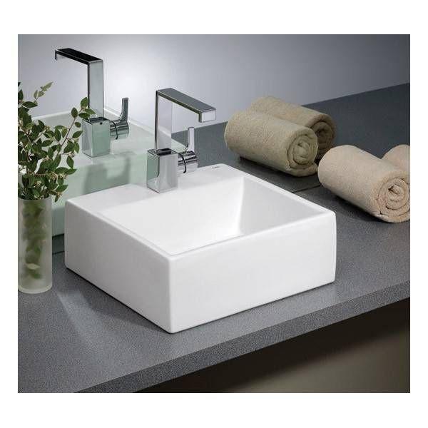 Cheviot Rio Overcounter Bath Sink With 8 Inch Drilling Bath Sinks Square Bathroom Sink Sink