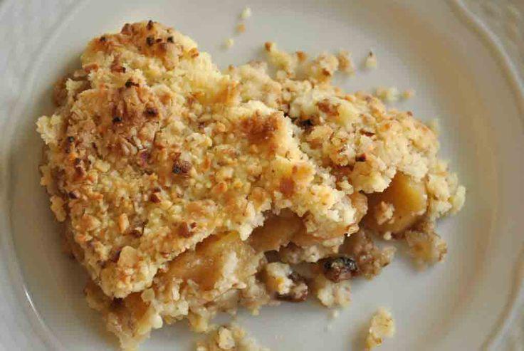 El crumble de manzana, en este caso Sin Gluten, ya es un clásico que se encuentra en la lista de postre de muchos restaurantes y también de muchas familias.