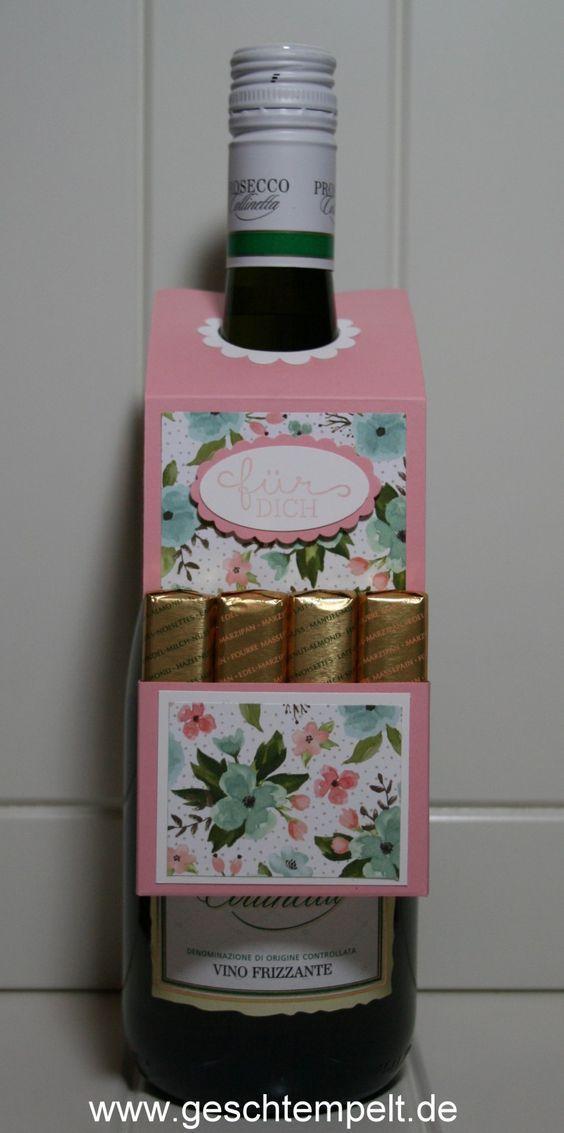 Stampin up, Flaschenanhänger, Merci, Schokolade, Schoki, Geburtstagsblumen, Geburtstagsstrauß, Anleitun, Tutorial