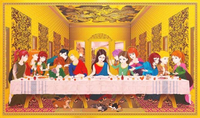 L'arte del rinascimento, in chiave manga L'illustratore giapponese Hiroshi Mori è autore di una serie di lavori che rivisitano opere d'arte e iconografia rinascimentale in chiave manga, inserendo in soggetti e scenari di dipinti famosi temi ed elementi tipici dei fumetti giapponesi e degli anime.