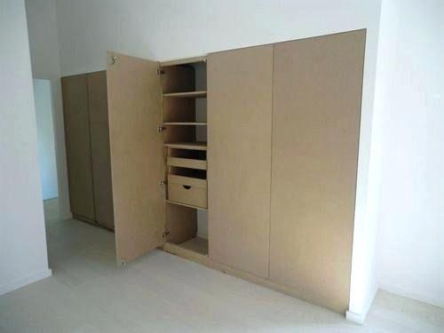 dressing avec porte coulissante fabriquer un placard. Black Bedroom Furniture Sets. Home Design Ideas