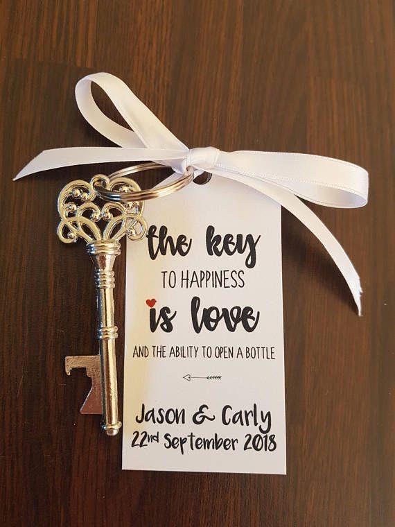 10 X Vintage Key Bottle Opener With Personalised Label Silver Vintage Key Bottle Opener Wedding Bottle Opener Favors Key Wedding Favors Wedding Favours Bottles