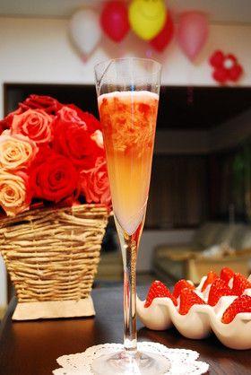 クラッシュ苺のシャンパン風☆ノンアルコール