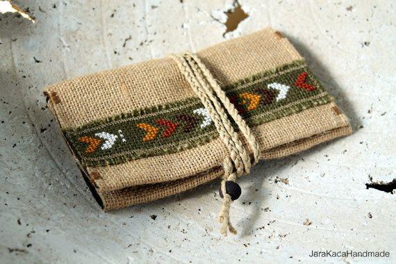 Tribal tobacco pouchWalletFringed by JaraKacaHandmade on Etsy