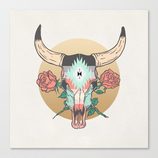 cráneo de vaca by Anthony Troester @society6 #illustration #apartment #college #dorm #sophomore #year #house #home #decor #skull #bull #cow #western #cowboy #theme #roses #products #chic #fashion #style #gift #idea #society6 #design #shop #shopping #buy #sale #fun #accessory #accessories #art #contemporary #cool #hip #awesome  #sweet