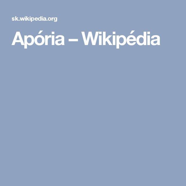 Apória – Wikipédia