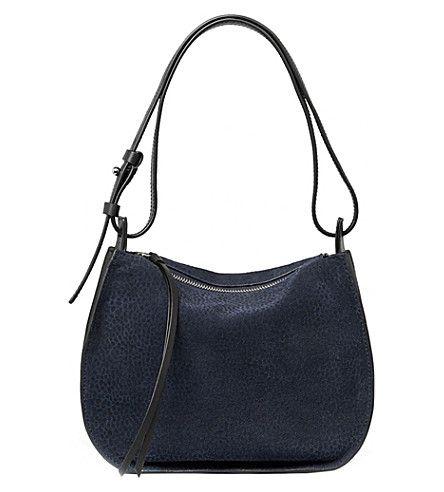 ALLSAINTS . #allsaints #bags #shoulder bags #suede #hobo #