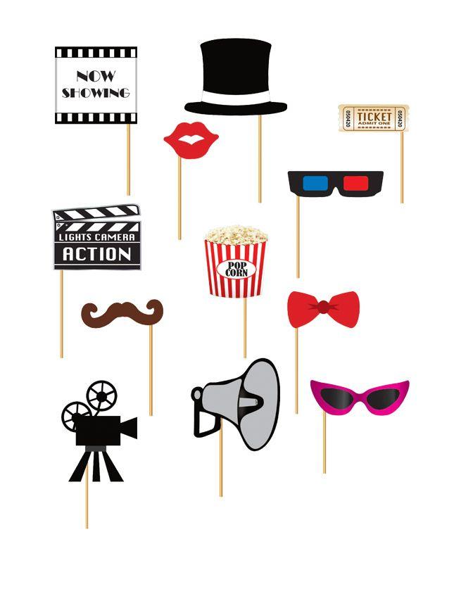 Kit photobooth 12 pezzi tema cinema su VegaooParty, negozio di articoli per feste. Scopri il maggior catalogo di addobbi e decorazioni per feste del web,  sempre al miglior prezzo!