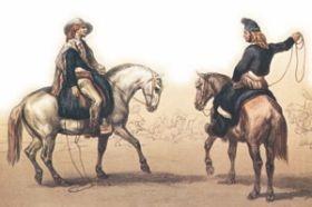 El peón y el capataz eran personajes típicos de la hacienda colonial.