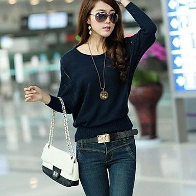 This cute and cozy batwing sweater will keep you warm during windy spring or autumn. Click on the picture to get it.