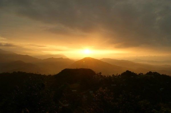 A beautiful sunrise in Nagarkot