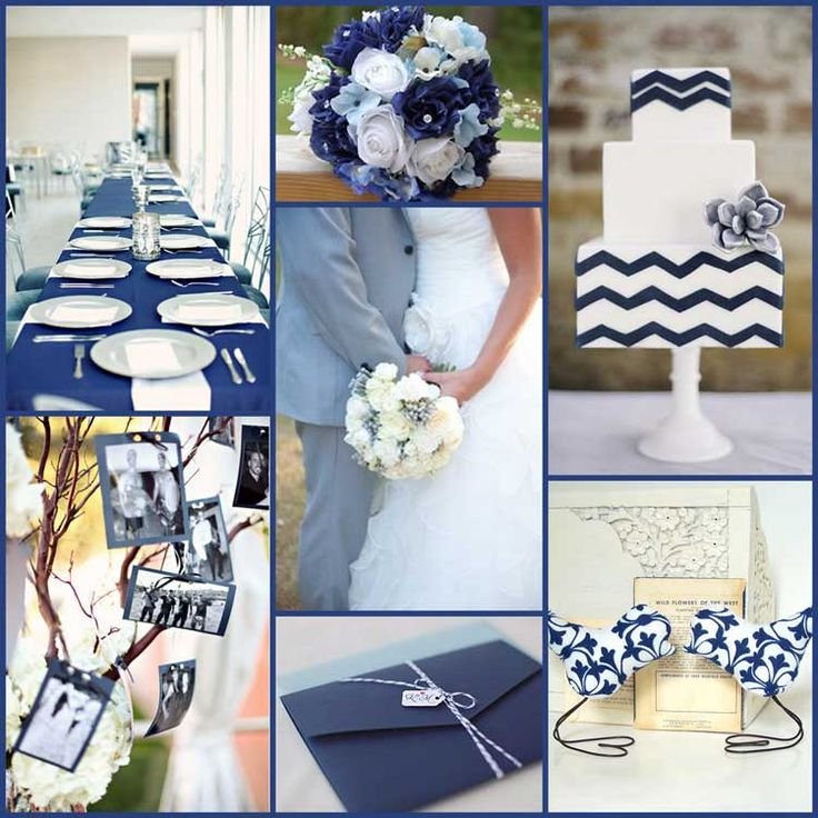 Navy White And Pale Blue Wedding Colors