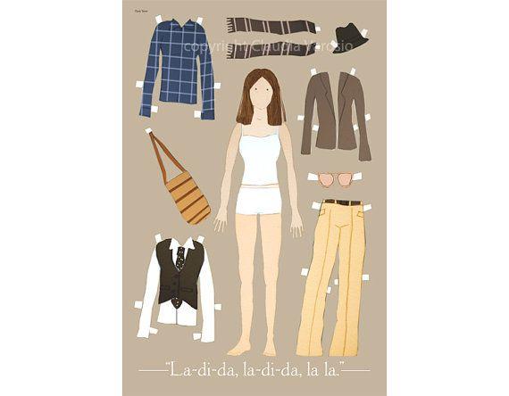 MERAVIGLIA!!!! La bambola di carta Annie Hall 12 x 18 pollici di ClaudiaVarosio