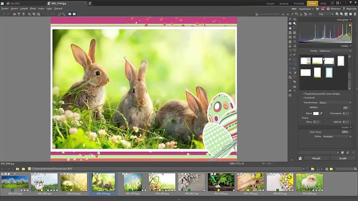 Zoner Photo Studio 17: Velikonoční rámečky