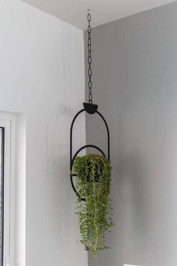 Plant Hanger Black Hanging Decor